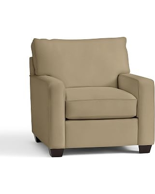 Buchanan Square Arm Upholstered Armchair, Polyester Wrapped Cushions, Performance everydaysuede(TM) Light Wheat