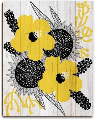 """Click Wall Art Blossoms Graphic Art on Plaque YNG0000047PLK Size: 30"""" H x 20"""" W x 1"""" D"""