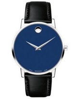 Movado Black Stainless Steel Museum Classic Watch