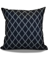 """Latitude Run Decorative Holiday Geometric Print Outdoor Throw Pillow LTRN4963 Size: 16"""" H x 16"""" W, Color: Navy Blue"""