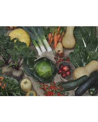 East Urban Home Thanksgiving Cotton Green Area Rug W002072925 Rug Size: Rectangle 5' x 7'