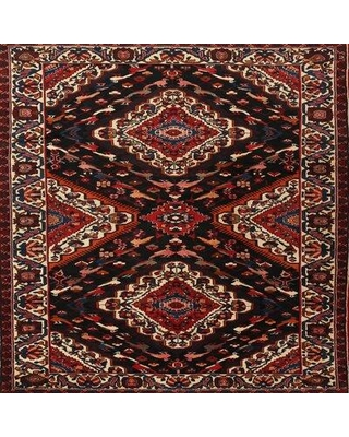 Bloomsbury Market Odia Traditional Black/Brown Area Rug X111371556 Rug Size: Rectangle 2' x 4'
