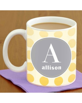 Personalized Polka Dot Coffee Mug, 15oz