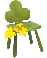 """Children's Furniture Co Leaf Clover Kids Novelty Chair Y2011 Color: Green Size: 25"""" H x 15"""" W x 15"""" D"""