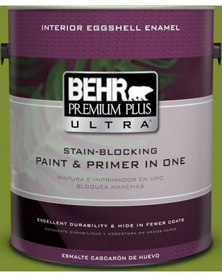 BEHR Premium Plus Ultra 1 gal. #P360-7 Sassy Grass Eggshell Enamel Interior Paint and Primer in One