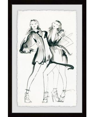 """House of Hampton 'Sexy Twins' Framed Acrylic Painting Print HMPT1042 Size: 36"""" H x 24"""" W"""