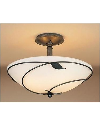 Hubbardton Forge Forged Leaves 16 Inch 3 Light Semi Flush Mount - 126732-1009