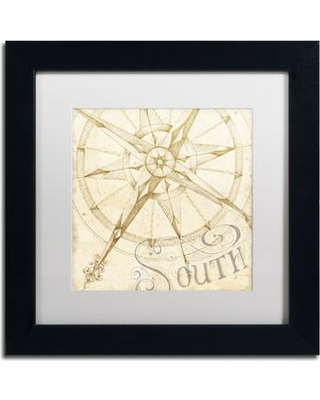 """Breakwater Bay 'Coast to Coast Sepia II' Framed Painting Print BKWT7252 Size: 11"""" H x 11"""" W Matte Color: White"""