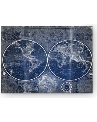 Deals on wexfordhome vintage world map ii graphic art print on wexfordhome vintage world map ii graphic art print on wrapped canvas in blue hac17 gumiabroncs Choice Image