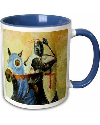 Charlton Home Chaffin Medieval Knight and Horse Coffee Mug W000364417