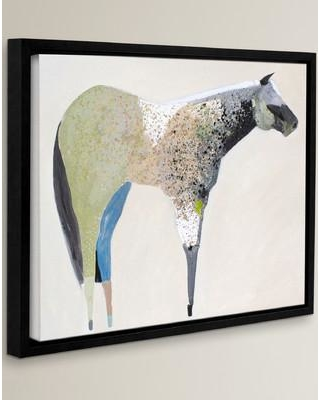 """Wrought Studio Horse No. 33 Framed Painting Print on Wrapped Canvas VKGL3534 Size: 18"""" H x 24"""" W x 2"""" D"""