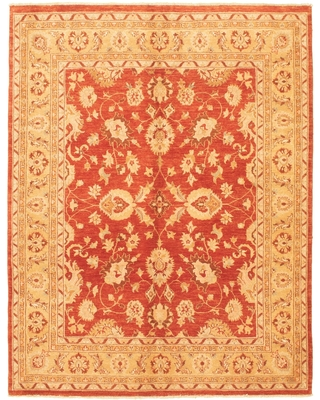 Hand-knotted Chobi Finest Copper Wool Rug ECARPETGALLERY - 6'6 x 8'4