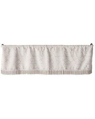 "Charlton Home Wetherbee Artistic Design 60"" Window Valance X112793117 Color: Silver"