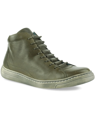CLOUD Fallon High Top Sneaker, Size 8-8.5Us in Napa Dark Green Napa Leather at Nordstrom