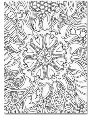 """Trademark Art """"Mixed Coloring Book 61"""" by Kathy G. Ahrens Graphic Art on Wrapped Canvas ALI3486-C Size: 32"""" H x 24"""" W x 2"""" D"""