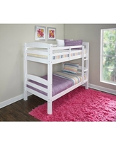 Powell Levi Twin Over Twin Bunk Bed, White