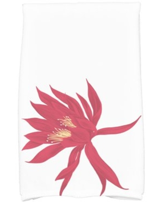 Simply Daisy, 16 x 25 Inch, Hojaver, Floral Print Kitchen Towel, Red