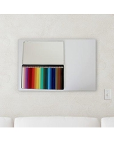 """Ebern Designs 'Colored Pencils in a Box' Photographic Print on Wrapped Canvas BI040077 Size: 36"""" H x 36"""" W x 2"""" D"""