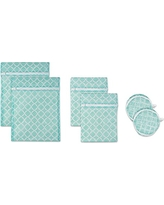 DII Set of 6 Mesh Laundry Bags for Delicates, Bra, Underwear, Hosiery, Stocking, Lingerie, Travel Storage, and Closet Organization - Set of 6 Small Assorted Sizes
