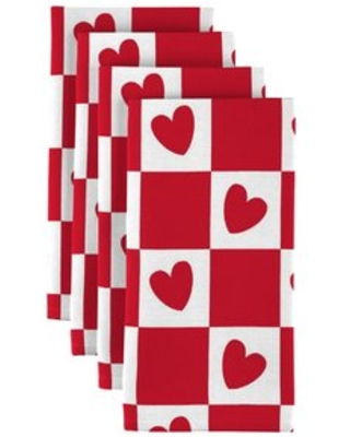 """Checkmate Hearts 18"""" Napkins Fabric Textile Products, Inc."""