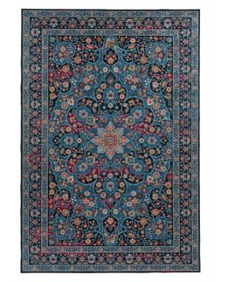 Linon Emerald Collection Rug, Blue, 2X3 Ft