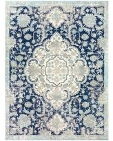 Amazing Deal On Milana Oriental Blue Area Rug Bungalow Rose Rug Size Rectangle 7 10 X 10