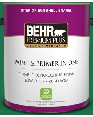 BEHR Premium Plus 1 gal. #470B-7 Climbing Ivy Eggshell Enamel Low Odor Interior Paint and Primer in One