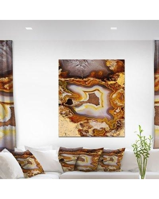 "East Urban Home Stone 'Agate Geode' Graphic Art Print on Wrapped Canvas ETUC0115 Size: 40"" H x 30"" W x 1.5"" D"