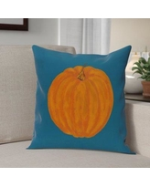 """The Holiday Aisle Lil' Pumpkin Holiday Print Throw Pillow HLDY6347 Color: Navy Blue, Size: 20"""" H x 20"""" W"""