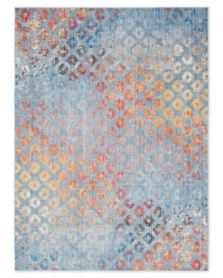 Unique Loom Rainbow Spectral 8' x 11' Area Rug in Blue