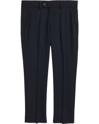 Boy's Tallia Solid Wool Blend Flat Front Trousers, Size 10 - Blue
