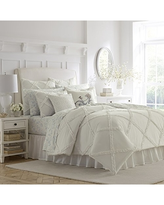Can't Miss Deals on Laura Ashley Adelina White Ruffle Comforter