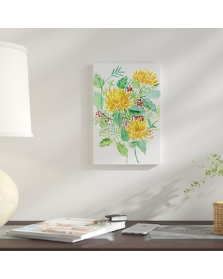 """'Joyful Movement II' Watercolor Painting Print on Wrapped Canvas East Urban Home Size: 18"""" H x 12"""" W x 0.75"""" D"""