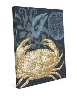 Savings On Damask Crab Graphic Art On Wrapped Canvas In Gray Click Wall Art Size 40 H X 30 W X 1 5 D