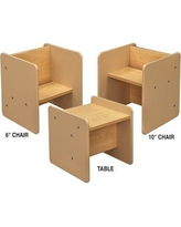 TotMate Activity Cube Kids Classroom Chair (Set of 2) TM2137A.S2222 Frame Finish: Smooth Assembly: No