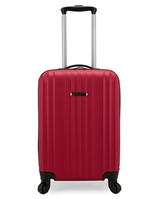 Traveler's Choice 20 in. Red Fullerton Hardside Carry-On Spinner Suitcase Luggage