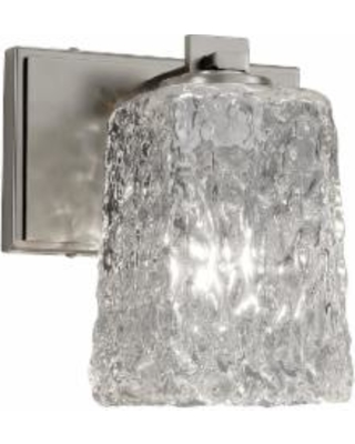 Justice Design Group Veneto Luce 7 Inch Wall Sconce - GLA-8441-26-CLRT-NCKL
