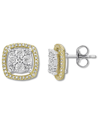 3a9c29e71 Amazing New Deals on Diamond Earrings 1/3 ct tw Round-cut 10K Two ...
