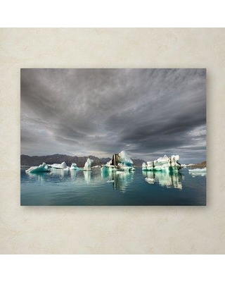 "Millwood Pines 'Iceland 81' Photographic Print on Wrapped Canvas MIPN1851 Size: 35"" H x 47"" W"
