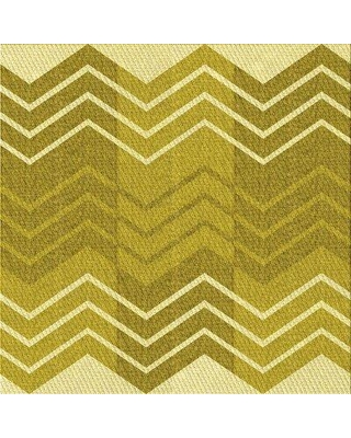 East Urban Home Ivey Chevron Wool Green Area Rug X113612743 Rug Size: Square 3'