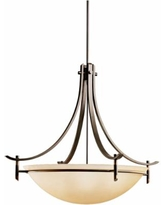 """Olympia Collection Olde Bronze 36"""" Wide Pendant Light"""