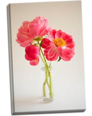 House of Hampton 'Pink Peonies in Vase II' Photographic Print on Wrapped Canvas BI050492
