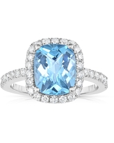 Noray Designs 14k White Gold Swiss Blue Topaz and 1/2ct TDW Diamond Ring (G-H, SI1-SI2) (9)