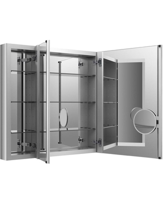 KOHLER Verdera 40-in x 30-in Surface/Recessed Aluminum Mirrored Rectangle Medicine Cabinet | 99011-NA