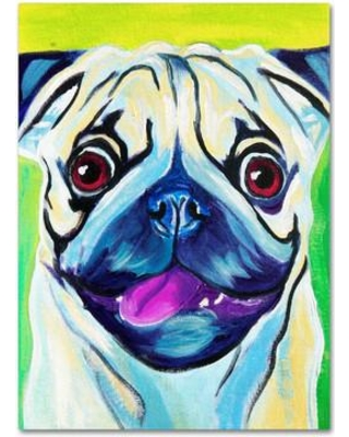 """Trademark Art Pugilicious by DawgArt Painting Print on Wrapped Canvas ALI0582-C Size: 19"""" H x 14"""" W x 2"""" D"""