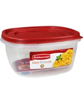 Rubbermaid Easy Find Lids Food Storage Container - 14 Cup, Red