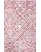 Meridian Rugmakers Belfast Hand-Tufted Wool Pink/Ivory RugWool in Pink/White, Size 144.0 H x 108.0 W x 0.59 D in   Wayfair MRDN2193 27633988