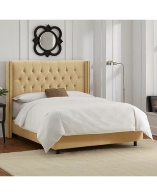Willa Arlo Interiors Allbright Upholstered Panel Bed WRLO6972 Color: Velvet Buckwheat Size: Queen