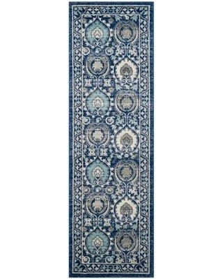"""Andover Mills Aegean Blue/Ivory Area Rug ANDO2227 Rug Size: Rectangle 5'1"""" x 7'6"""""""