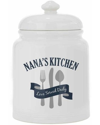Personalized Love Served Daily Treat/Cookie Jar, Available in 3 Colors